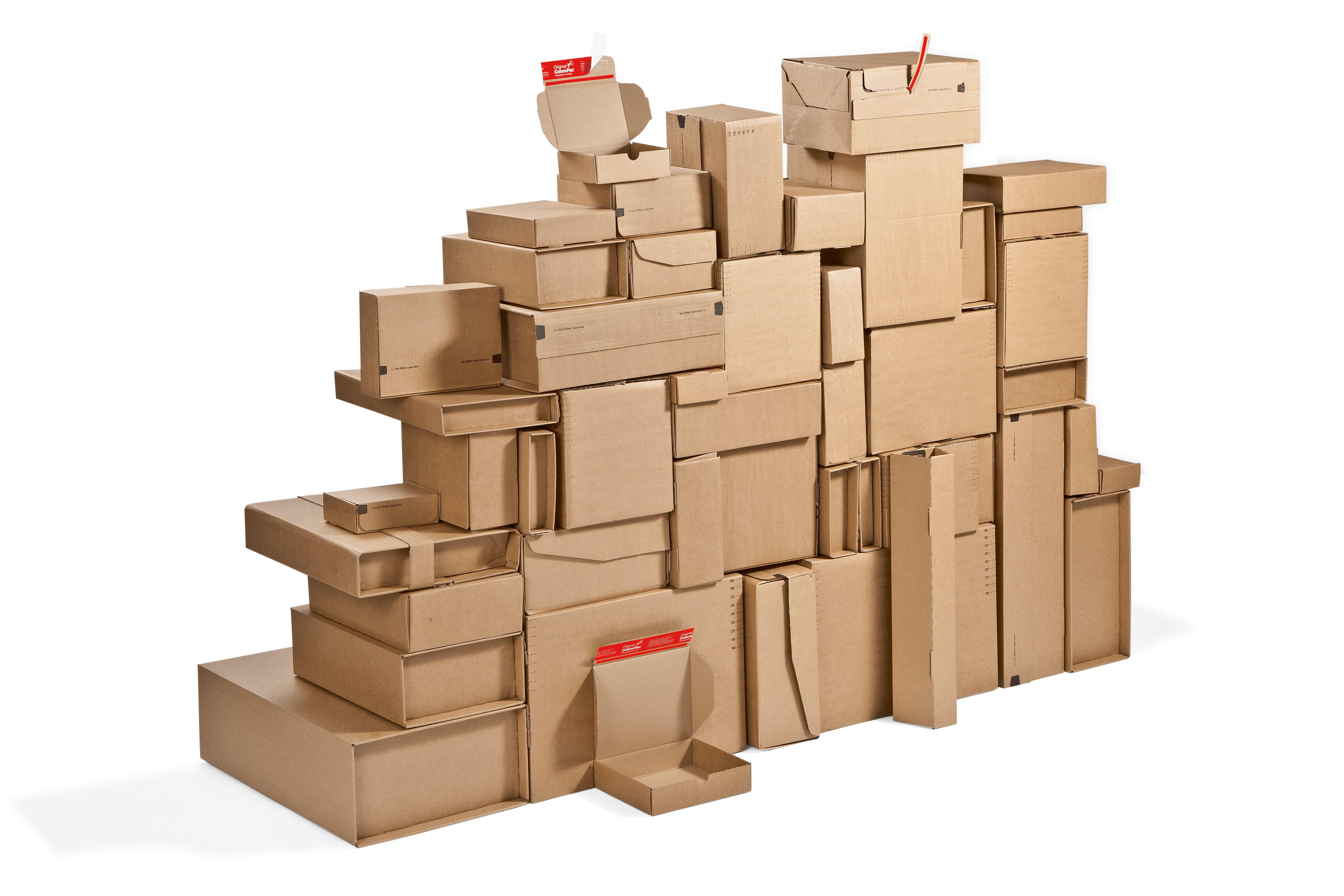 scatole e buste da spedizione