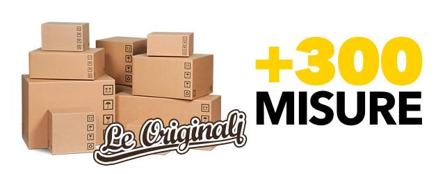 Oltre 300 misure di scatole