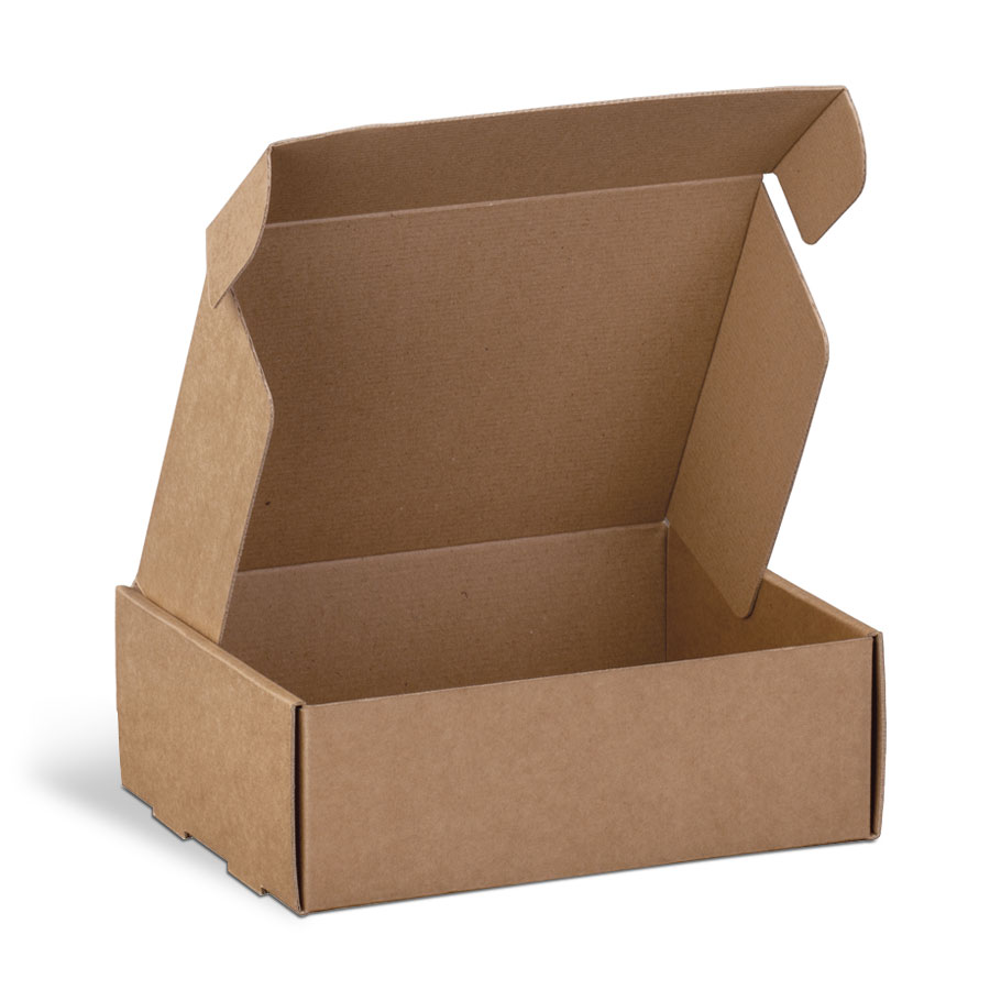 scatola fustellata per spedire piccoli dispositivi elettronici