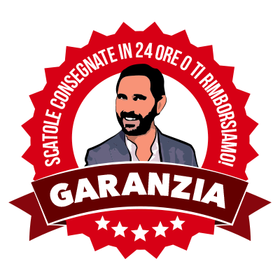 Garanzia: Scatole consegnate in 24 ore, o è gratis!
