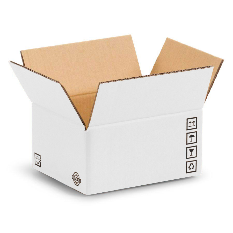 Scatole di cartone bianche