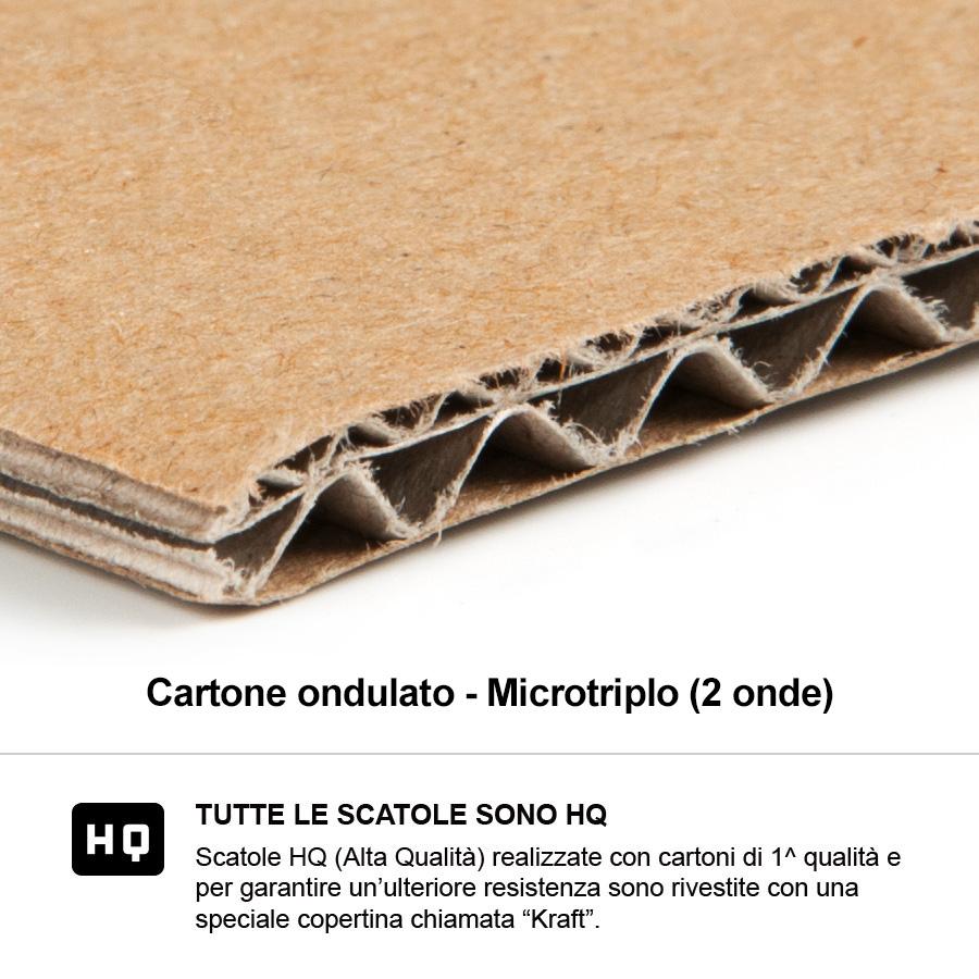 Cartone 2 onde microtriplo