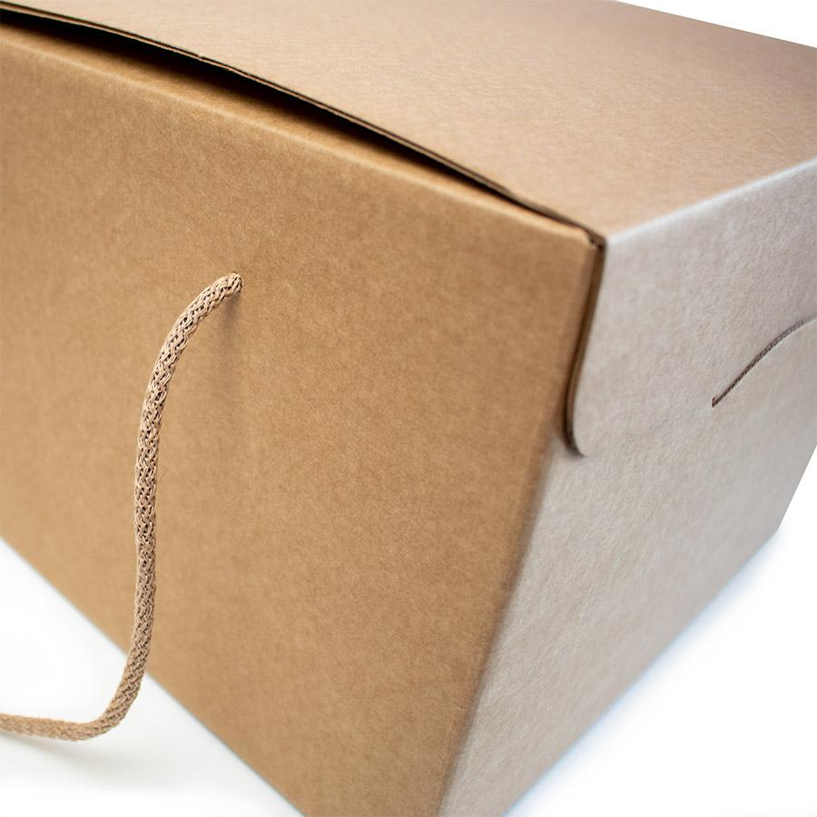 Scatola take away segreto dettaglio esterno
