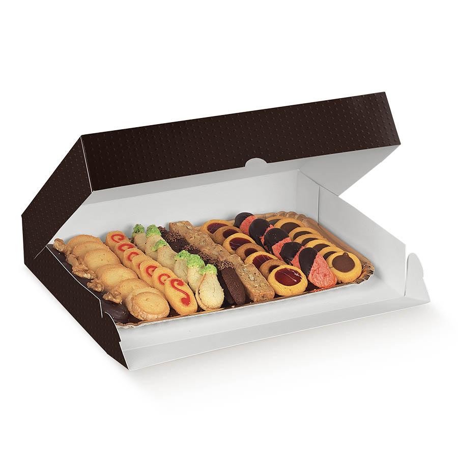 scatola spot marrone pasticceria